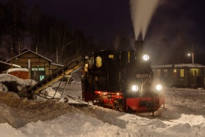 Winterdampf auf der Preßnitztalbahn mit 99 4511-4 // Winter steam at the Pressnitztal Railway with 99 4511-4