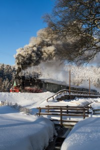 Winterdampf auf der Preßnitztalbahn mit 99 1715-4 // Winter steam at the Pressnitztal Railway with 99 1715-4